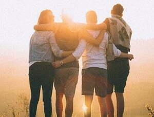 group outside the rehab